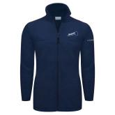 Columbia Full Zip Navy Fleece Jacket-Brandeis Athletics