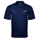 Navy Mini Stripe Polo-Brandeis Athletics