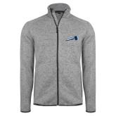Grey Heather Fleece Jacket-Brandeis Athletics