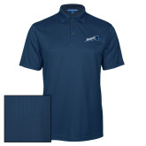 Navy Performance Fine Jacquard Polo-Brandeis Athletics