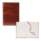 Fabrizio Brown Soft Cover Journal-Brandeis Judges Wordmark Engraved