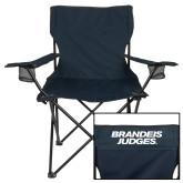 Deluxe Navy Captains Chair-Brandeis Judges Wordmark