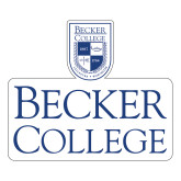 Large Decal-Shield w/ Becker College Stacked, 12 inches tall