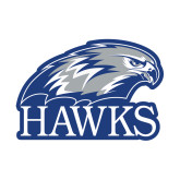Small Decal-Hawks Logo, 6 inches wide