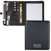 Carbon Fiber Tech Padfolio-Becker College Stacked