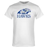 White T Shirt-Hawks Logo