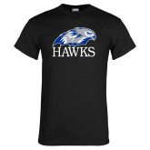 Black T Shirt-Hawks Logo
