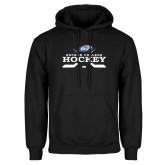 Black Fleece Hoodie-Hockey Graphic