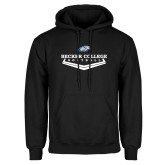 Black Fleece Hoodie-Softball Graphic