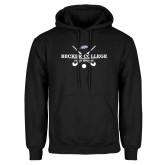 Black Fleece Hoodie-Field Hockey Graphic