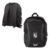 Atlas Black Computer Backpack-Becker College Shield
