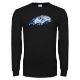 Black Long Sleeve T Shirt-Hawk Head