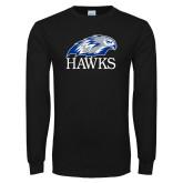 Black Long Sleeve T Shirt-Hawks Logo