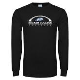 Black Long Sleeve T Shirt-Football Graphic