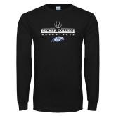 Black Long Sleeve T Shirt-Basketball Graphic