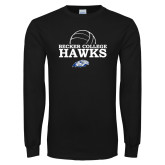 Black Long Sleeve T Shirt-Volleyball Graphic