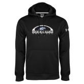 Under Armour Black Performance Sweats Team Hoodie-Football Graphic