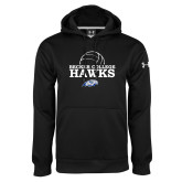 Under Armour Black Performance Sweats Team Hoodie-Volleyball Graphic