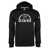 Under Armour Black Performance Sweats Team Hoodie-Soccer Graphic