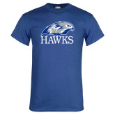 Royal T Shirt-Hawks Logo