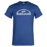 Royal T Shirt-Football Graphic