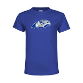 Youth Royal T Shirt-Hawk Head