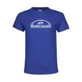 Youth Royal T Shirt-Football Graphic