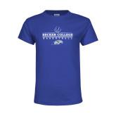 Youth Royal T Shirt-Basketball Graphic