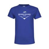 Youth Royal T Shirt-Baseball Graphic