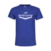 Youth Royal T Shirt-Softball Graphic