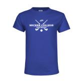 Youth Royal T Shirt-Field Hockey Graphic