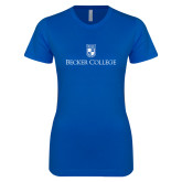 Next Level Ladies SoftStyle Junior Fitted Royal Tee-Shield w/ Becker College