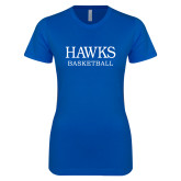 Next Level Ladies SoftStyle Junior Fitted Royal Tee-Basketball