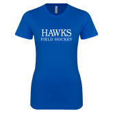 Next Level Ladies SoftStyle Junior Fitted Royal Tee-Field Hockey