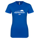 Next Level Ladies SoftStyle Junior Fitted Royal Tee-Equestrian Graphic