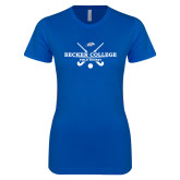 Next Level Ladies SoftStyle Junior Fitted Royal Tee-Field Hockey Graphic
