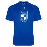 Under Armour Royal Tech Tee-Becker College Shield