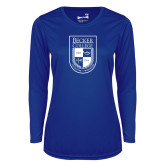 Ladies Syntrel Performance Royal Longsleeve Shirt-Becker College Shield