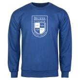 Royal Fleece Crew-Becker College Shield