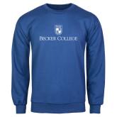 Royal Fleece Crew-Shield w/ Becker College