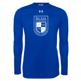 Under Armour Royal Long Sleeve Tech Tee-Becker College Shield