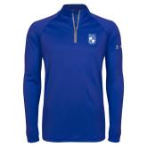 Under Armour Royal Tech 1/4 Zip Performance Shirt-Becker College Shield
