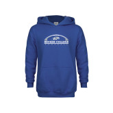 Youth Royal Fleece Hoodie-Football Graphic