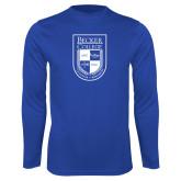 Performance Royal Longsleeve Shirt-Becker College Shield