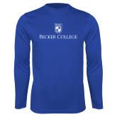 Performance Royal Longsleeve Shirt-Shield w/ Becker College