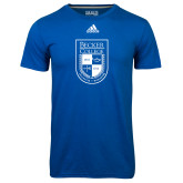 Adidas Climalite Royal Ultimate Performance Tee-Becker College Shield