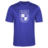 Performance Royal Heather Contender Tee-Becker College Shield