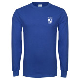 Royal Long Sleeve T Shirt-Becker College Shield