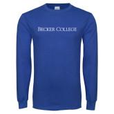 Royal Long Sleeve T Shirt-Wordmark