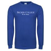 Royal Long Sleeve T Shirt-Wordmark w/ Tagline